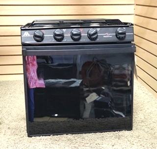 USED BLACK 3 BURNER ATWOOD WEDGEWOOD VISION R-V2132BGP RV OVEN MOTORHOME PARTS FOR SALE