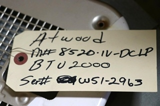 USED RV ATWOOD 20,000 BTU FURNACE 8520-IV-DCLP MOTORHOME PARTS FOR SALE