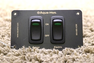USED MOTORHOME AQUA-HOT 2 SWITCH PANEL RV PARTS FOR SALE