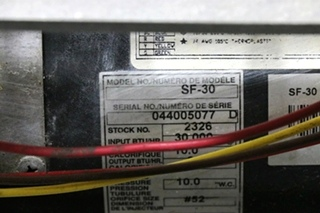 SUBURBAN USED SF-30 MOTORHOME FURNACE RV PARTS FOR SALE