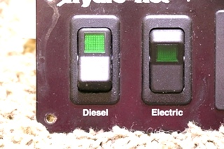 USED RV HYDRO-HOT BY VEHICLE SYSTEMS SWITCH PANEL MOTORHOME PARTS FOR SALE