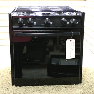 USED ALY2280ADB BLACK AMANA 3 BURNER RV OVEN MOTORHOME APPLIANCES FOR SALE