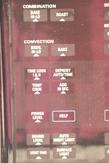 USED JVM1190BY001 GE RV MICROWAVE/CONVECTION OVEN MOTORHOME APPLIANCES FOR SALE