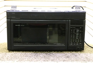 USED SHARP CAROUSEL R-1870 MOTORHOME BLACK MICROWAVE CONVECTION OVEN RV APPLIANCES FOR SALE