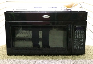 USED MOTORHOME WHIRLPOOL GMH6185XVB-1 BLACK MICROWAVE CONVECTION OVEN RV APPLIANCES FOR SALE