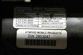 ATWOOD RV FURNACE USED 8525-IV-DCLP MOTORHOME PARTS FOR SALE