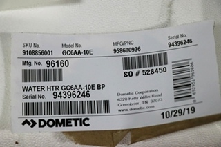 DOMETIC GC6AA-10E WATER HEATER FOR SALE