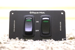 USED AQUA-HOT 2 SWITCH PANEL RV PARTS FOR SALE
