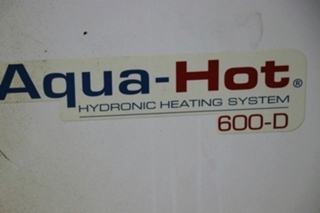 USED AQUA-HOT AHE-600-D01 RV HYDRONIC HEATING SYSTEM FOR SALE