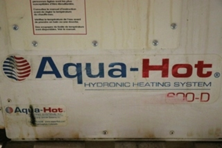 AQUA-HOT 600-D USED RV AHE-600-D02 HYDRONIC HEATING SYSTEM FOR SALE
