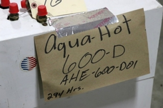 USED AQUA-HOT 600-D MOTORHOME AHE-600-D01 HYDRONIC HEATING SYSTEM FOR SALE