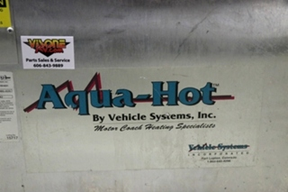 USED AHU-100-02S AQUA-HOT MOTOR COACH & MARINE HEATING SYSTEM FOR SALE