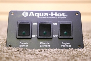 USED MOTORHOME AQUA-HOT 3 SWITCH PANEL RV PARTS FOR SALE